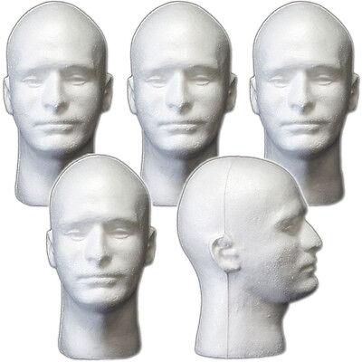 Less Than Perfect Mn-409-ltp 5 Pcs Male Styrofoam Foam Mannequin Head