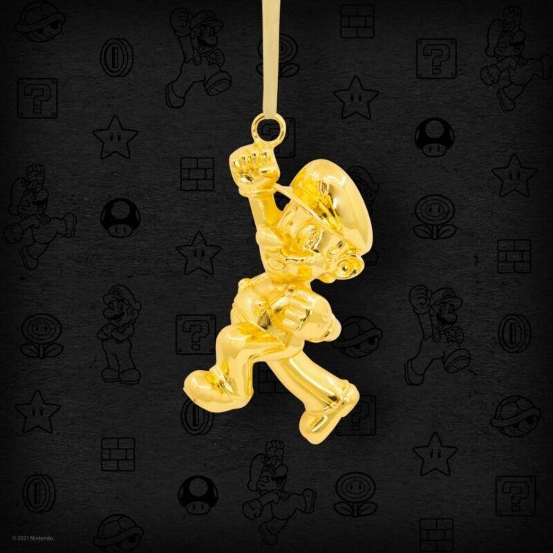SDCC 2021 Hallmark Exclusive Gold Super Mario Keepsake Ornament CONFIRMED ORDER
