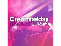 CREAMFIELDS STANDARD 4 DAY CAMPING TICKET x1