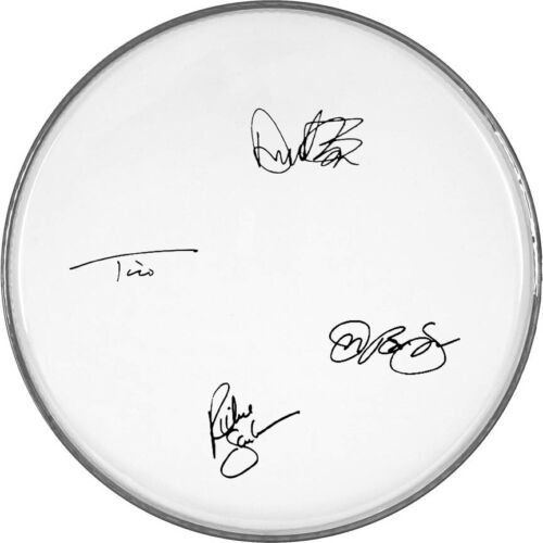 """Bon Jovi Autographed Signed 12"""" inch clear drumhead drum head"""