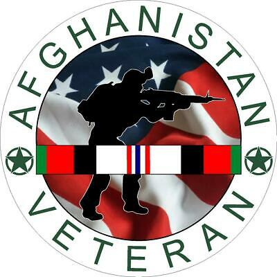 Afghanistan Veteran Seal Military Insignia Vinyl Decal -