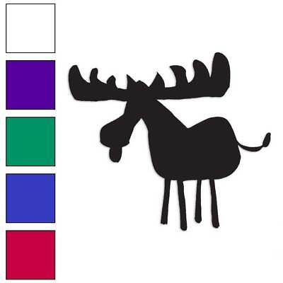 Moose Caveman Painting Decal Sticker Choose Color + Size #927