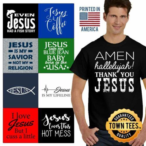 Christ Tee Shirt Religious T-Shirt Mens God TShirts Christia