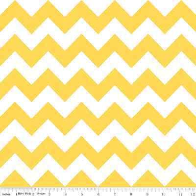 Chevron Yellow Medium Chevron by RBD Designers for Riley Blake, 1/2 yard fabric