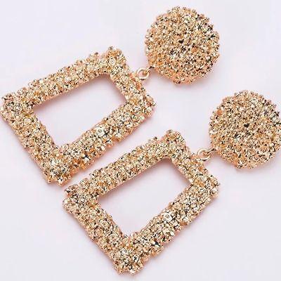 Zara Gold raised design gold wedding blogger style Silver drop earrings UK