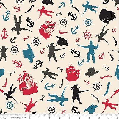 Pirate Matey (Fat Quarter Pirate Matey's Cotton Quilting Fabric Riley Blake)