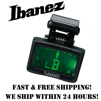 *IBANEZ TUNANO CHROMATIC MICRO HEADSTOCK TUNER FOR GUITAR, BASS, UKULELE, BANJO* for sale  Springville