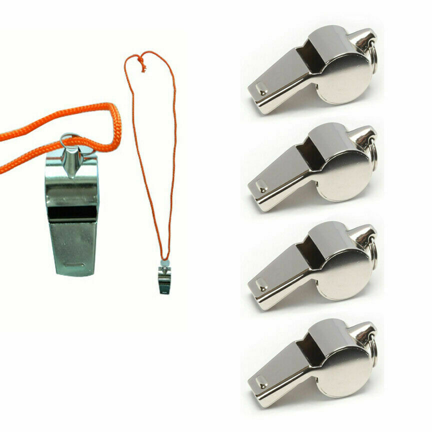 4 PC Coach Signal Referee Loud Whistle Survival Safety Sport