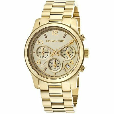 Michael Kors Women's Chronograph Runway Gold Tone Stainless Steel Watch MK5055