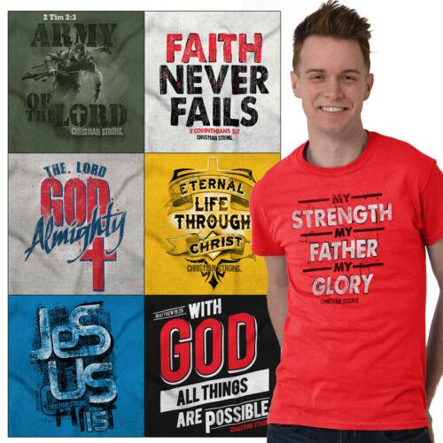 Christian Tee Shirt Church T Shirts For Mens Faith Religious