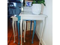 Vintage upcycled nest of tables