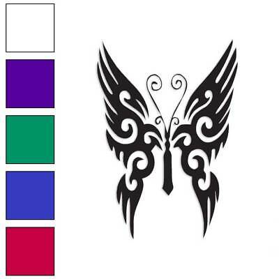 Tribal Butterfly Decal Sticker Choose Color + Size -
