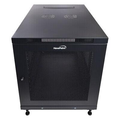"""Usado, 12U Server Data Cabinet Rack Enclosure Mid Depth 33"""" Deep Perforated Door Lock comprar usado  Enviando para Brazil"""