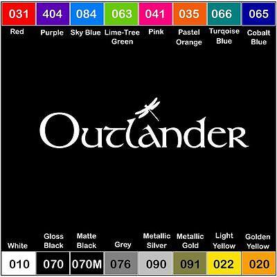 OUTLANDER Vinyl Decal Sticker Window Car dragonfly adventure -