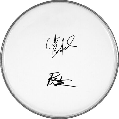 """Dave Matthews Beauford Autographed Signed 12"""" inch clear drumhead drum head"""