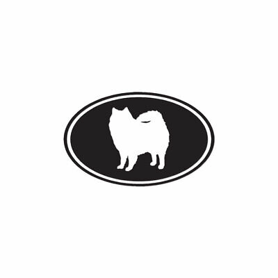 American Eskimo Oval Dog - Decal Sticker - Multiple Colors & Sizes - ebn3576 American Eskimo Dog Sticker
