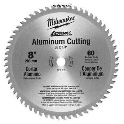 Milwaukee 8 60 Teeth Aluminum Circular Saw Blade 48-40-4540