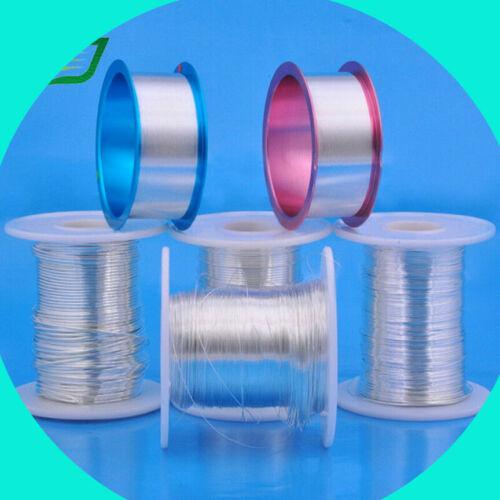 Sterling 925 silver round wire half hard 16,18,20,22,24 gauge 5 10 15 feet USA