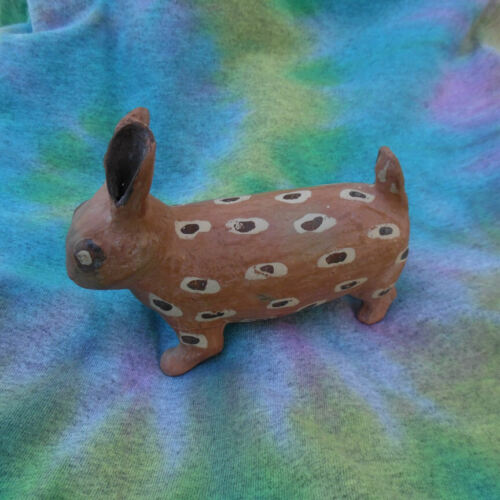 OLD TRIBAL POTTERY SCULPTURE IN THE FORM OF A RABBIT