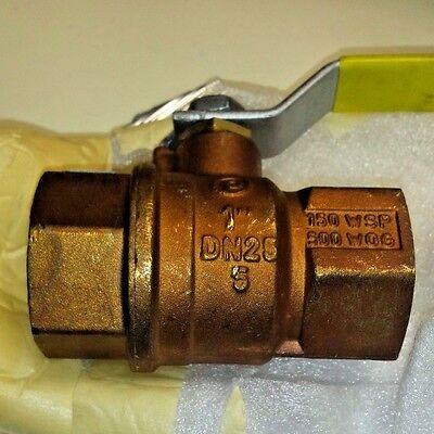 Jomar Valve T-100ne Brass Full Port Ball Valve 1 Gas Shut Off Valve 100-705