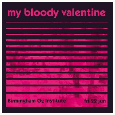 My Bloody Valentine - LARGE POSTER - Live Concert print Kevin Shields SHOEGAZE