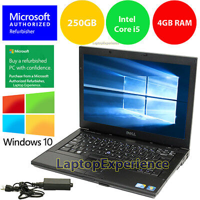 $158.00 - DELL LAPTOP WINDOWS 10 PC Core i5 2.4Ghz 4GB RAM WiFi DVDRW NOTEBOOK 250GB HD