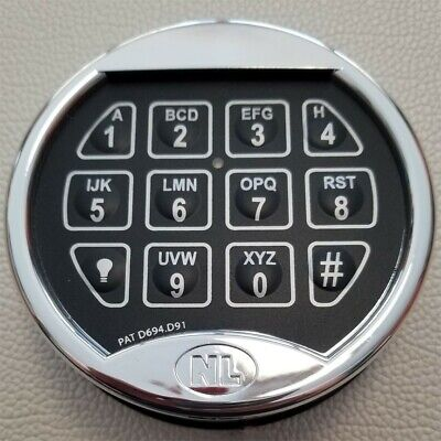 New Nl Brand Superior Electronic Safe Lock With Lighted Chrome Keypad