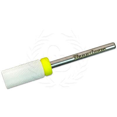 Professional Usa Ceramic White Small Barrel Bit Nail Drill Xf Extra Fine Grit