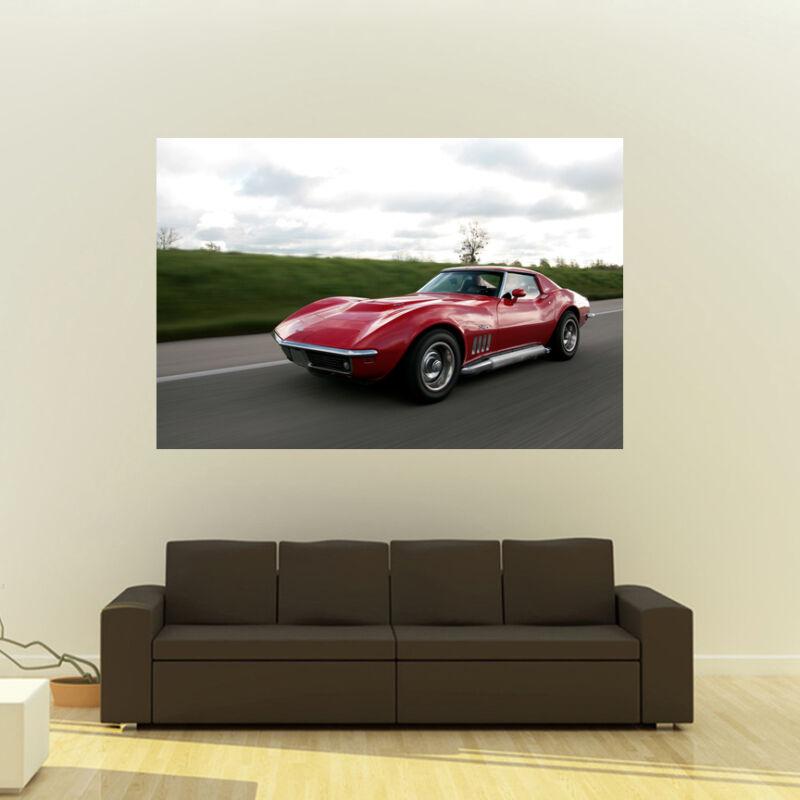 Chevy Corvette C3 Mako Shark Giant HD Poster Huge 54x36 Inch Print 137x91 cm