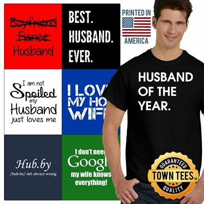 Couple Tee Shirt Marriage T-Shirt Mens Hubby Tshirts Best T Shirt For Women (Best Shirts For Marriage)