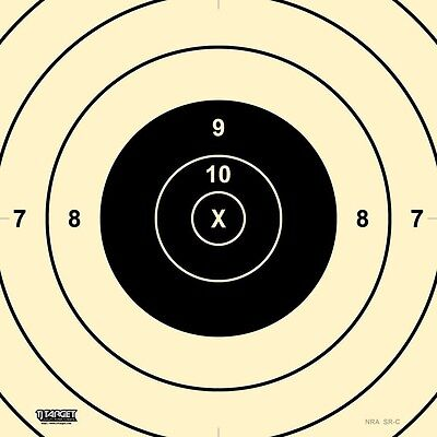 SRC - 200 Yard High Power Rifle Target Center, (10 pack) Official NRA 200 Yard Rifle Targets