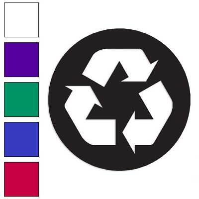 Recycle Symbol Recycling Decal Sticker Choose Color + Size #566