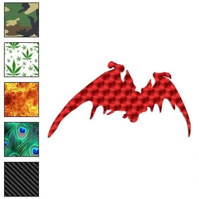 Bat Silhouette (Vampire Bat Silhouette Decal Sticker Choose Pattern + Size)
