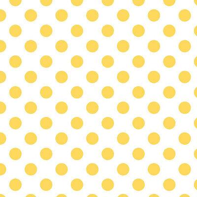 Dots Medium Yellow on White by RBD Designers for Riley Blake, 1/2 yard fabric