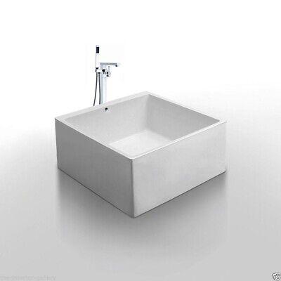 "Acrylic Bathtub - Freestanding - Soaking Tub - Modern Bathtub -  Diamante - 55"""