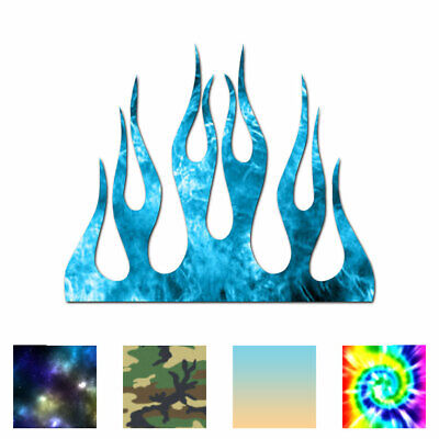 Fire Splash Flames - Vinyl Decal Sticker - Multiple Patterns & Sizes - ebn1331 - Fire & Flames