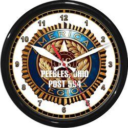 12.5 American Legion Personalized Wall Clock Military Patriotic Service Post