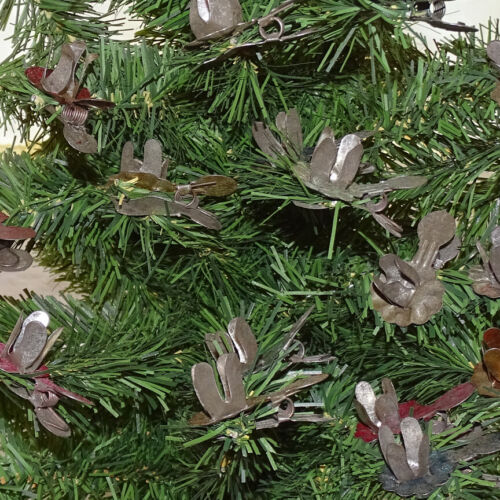 Antique Old Christmas Feather Tree Tin Clip On Candle Holder Mixed Lot of 19