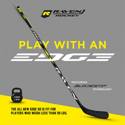 RAVEN EDGE 50 FLEX COMPOSITE JUNIOR HOCKEY STICK LEFT HAND PLAYERS UNDER 110 LBS Composite Junior Hockey Stick