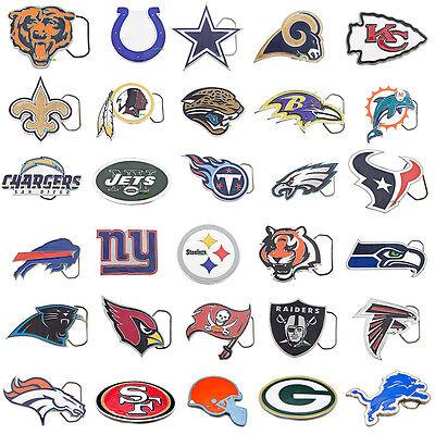 Cut Out NFL Team Logo Official Licensed Pewter Belt Buckle