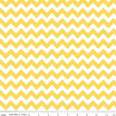 Chevron Yellow Small Chevron for Riley Blake, 1/2 yard 100% cotton fabric