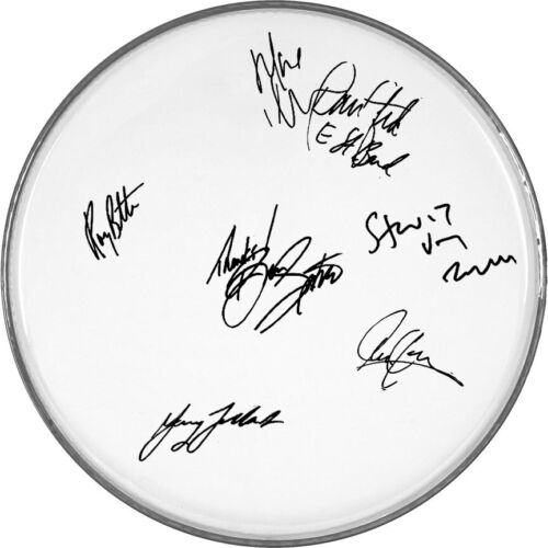 """E-Street Band Autographed Signed 12"""" inch clear drumhead drum head"""