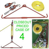 CLOSEOUT! 4 NEW REMINGTON HOIST & GAMBREL SYSTEM KIT,440 LB ANIMAL/GAME/DEER/HOG