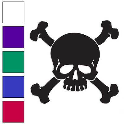 Skull Crossbones Pirate Decal Sticker Choose Color + Size #991 (Pirate Stickers)