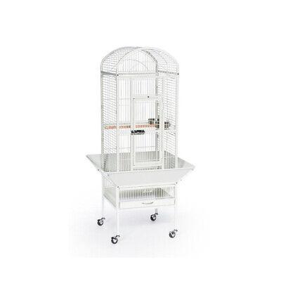 Prevue Pet Small Dome Top Bird Cage Chalk White Wrought Iron 18 Inch L X 18 Inc