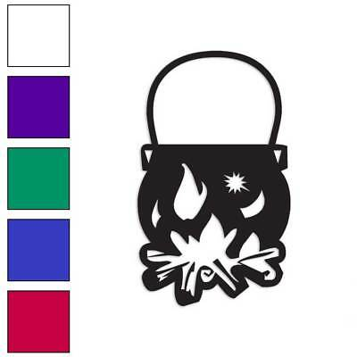 - Witch Cauldron Pot Decal Sticker Choose Color + Size #1107
