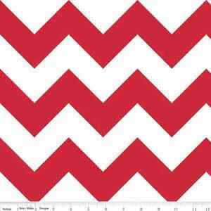 Chevron Red Large Chevron for Riley Blake, 1/2 yard 100% cotton fabric
