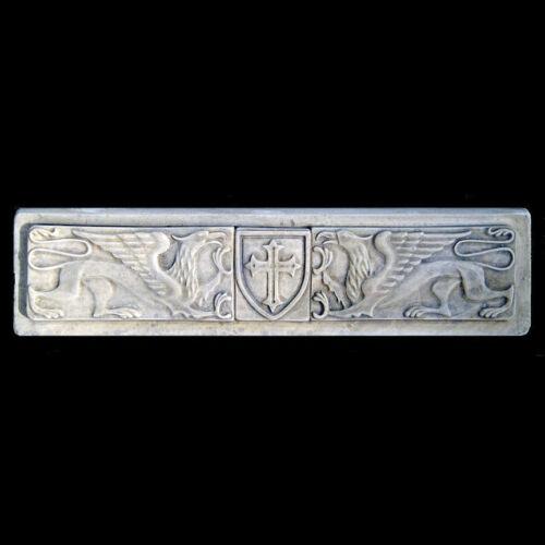 Templar Griffins Shield Symbol Sculpture plaque replica reproduction