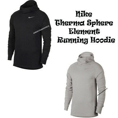 Therma Fit Fleece Top - NIKE NEW MEN'S THERMA SPHERE ELEMENT FLEECE RUNNING TOP HOODIE DRI-FIT NWT $90.