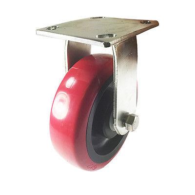 6 X 2 Heavy Duty Stainless Steel Polyurethane Wheel Caster - Rigid